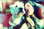 Barbara Mori y su perrito Ostin