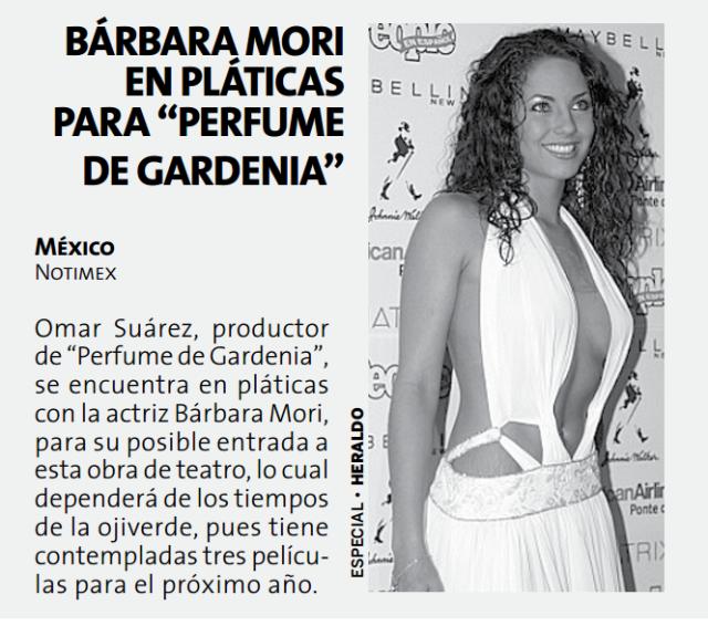 Periódico Barbara Mori