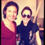 Barbara Mori y fan Jose Mendoza Ballesteros